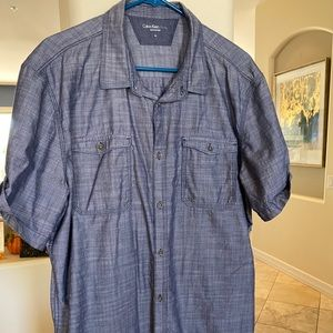 Men's XL Calvin Klein Jeans Blue Button Down Shirt